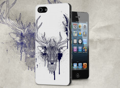 Coque iPhone 5/5S Black Deer Face