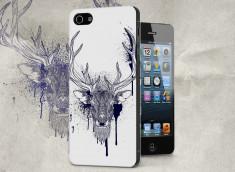 Coque iPhone 5/5S Black Deer Face