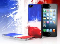 Coque iPhone 5 Drapeau Grunge - France