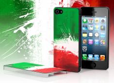 Coque iPhone 5 Drapeau Grunge - Italie