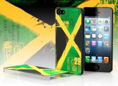 Coque iPhone 5 Drapeau Jamaïque Grunge
