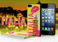 Coque iPhone 5 Lips Flag - Italie