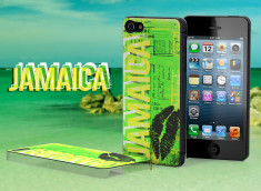 Coque iPhone 5 Lips Flag - Jamaïque