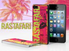 Coque iPhone 5 Lips Flag - Rastafari