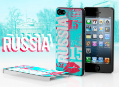 Coque iPhone 5 Lips Flag - Russie