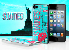 Coque iPhone 5 Lips Flag - USA