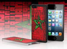 Coque iPhone 5 Drapeau Grunge - Maroc