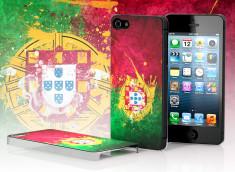Coque iPhone 5 Drapeau Grunge - Portugal