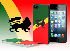 Coque iPhone 5 Drapeau Rastafari