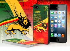 Coque iPhone 5 Drapeau Grunge - Rastafari