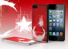 Coque iPhone 5 Drapeau Grunge - Turquie