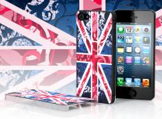 Coque iPhone 5 Drapeau UK - Rose