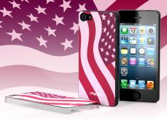 Coque iPhone 5 Drapeau USA - Rose