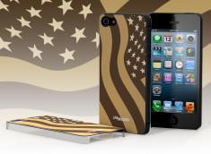 Coque iPhone 5 Drapeau USA - Tan