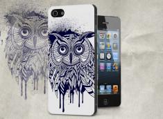 Coque iPhone 5/5S Black Owl Face