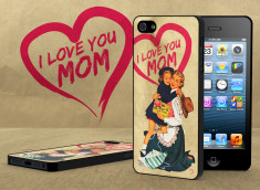 Coque iPhone 5 Vintage Case - Love Mom