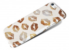 Coque iPhone 5/5S/SE Kiss Kiss-Blanc