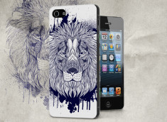 Coque iPhone 5/5S Black Lion Face