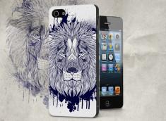 Coque iPhone 5/5S Black Lion Face