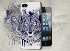Coque iPhone 5/5S Black Wolf Face