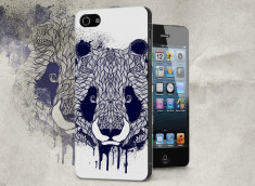 Coque iPhone 5/5S Black Panda Face