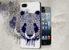 Coque iPhone 5/5S Black Panda Face