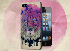 Coque iPhone 5/5S Lion Face