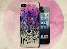 Coque iPhone 5/5S Wolf Face