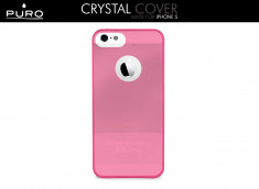 Coque iPhone 5/5S Crystal Cover by Puro-Rose translucide