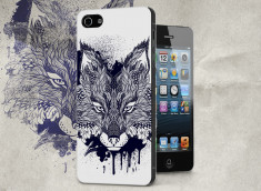 Coque iPhone 5/5S Black Fox Face