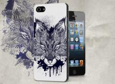 Coque iPhone 5/5S Black Fox Face