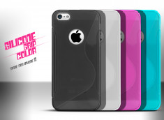 Coque iPhone 5 Silicone Grip Color
