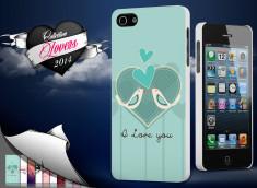 Coque iPhone 5/5S Saint Valentin 2014 - I Love You - Birds