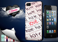 Coque iPhone 5/5S Saint Valentin 2014 - Hate but Love