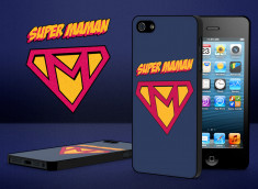Coque iPhone 5 Super Maman modèle 1