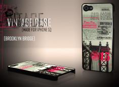 Coque iPhone 5 Vintage Case - Brooklyn Bridge