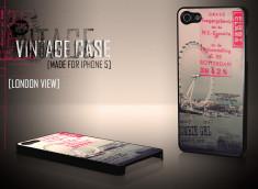 Coque iPhone 5 Vintage Case - London View