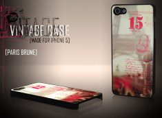 Coque iPhone 5 Vintage Case - Paris Brume