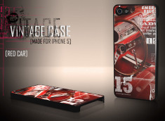 Coque iPhone 5 Vintage Case - Red Car