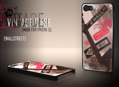 Coque iPhone 5 Vintage Case - Wall Street