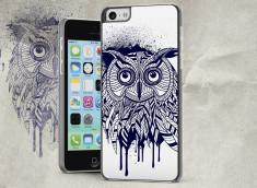 Coque iPhone 5C Black Owl Face