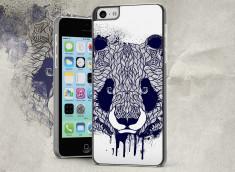 Coque iPhone 5C Black Panda Face