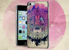 Coque iPhone 5C Lion Face