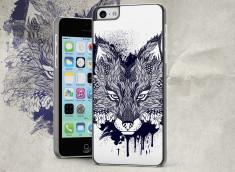 Coque iPhone 5C Black Fox Face