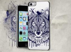 Coque iPhone 5C Black Wolf Face