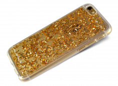 Coque iPhone 7 Feuilles d'Or