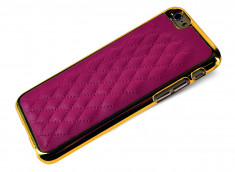 Coque iPhone 6/6S Leather'n Gold-Fushia