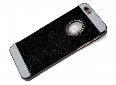 Coque iPhone 6 Plus/6S Plus Glitter and Strass-Noir