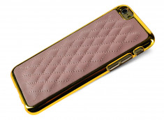 Coque iPhone 6/6S Leather'n Gold-Rose