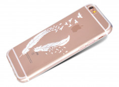 Coque iPhone 6 Plus/6S Plus White Feather